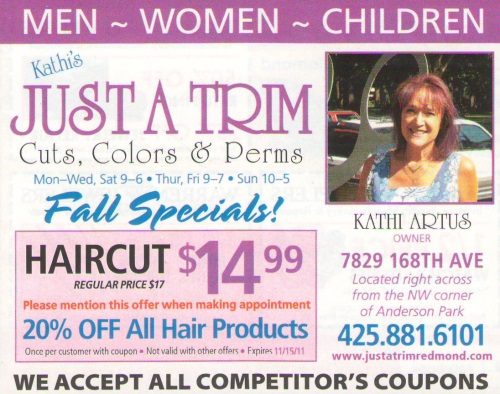 haircut and color coupons hair cut amp color specials redmond hair salon 4901